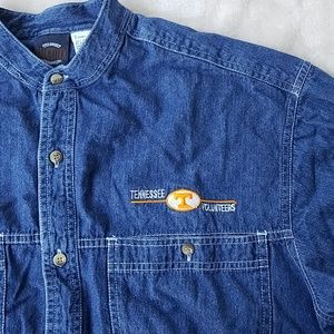 90's Vintage Tennessee Vols Denim Button Down